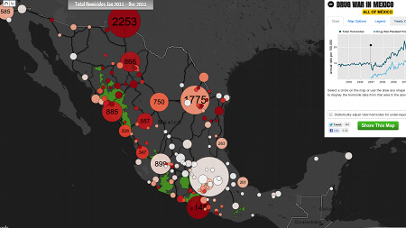 Interactive map of the drug war
