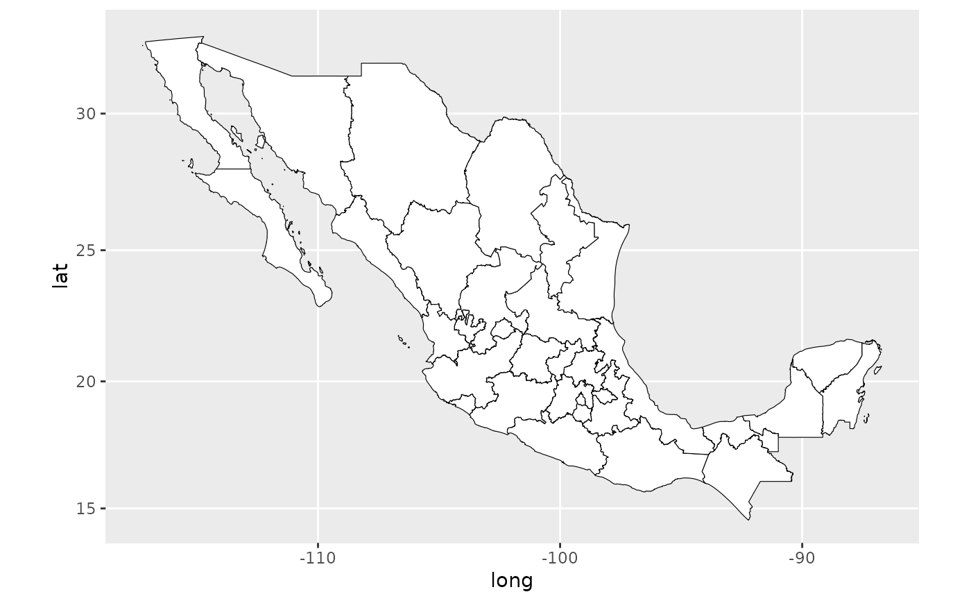 Map of Mexican States — mxstate map • mxmaps